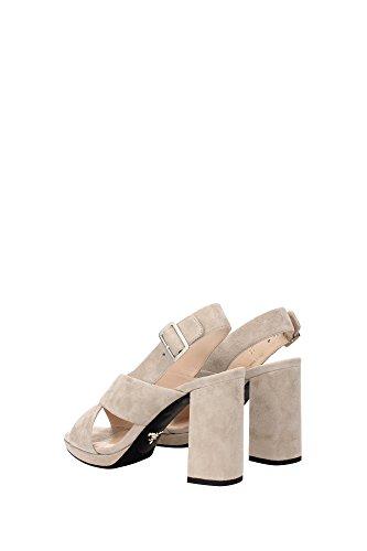 1XP758QUARZO Prada Sandale Femme Chamois Beige Beige