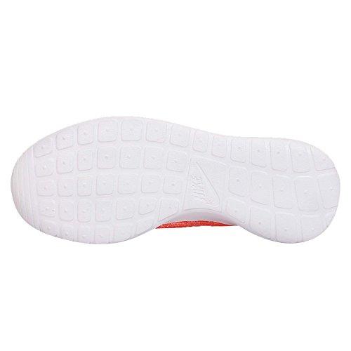 Nike - Roshe Flyknit, Scarpe da corsa Donna Hot Lava/White/Sunset Glow