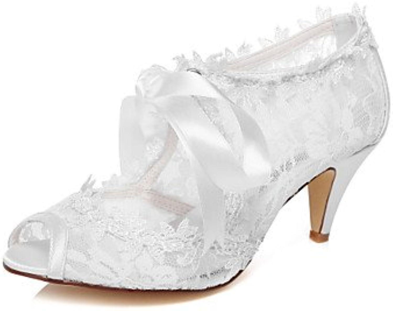 Las Mujeres'S Wedding Shoes 2A-2 Blanco De 3/4 Pulg.