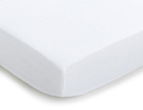 Julius Zöllner 8330013100 - Spannbetttuch Jersery für die Wiege, Größe: 90 x 40 cm, Farbe: weiß