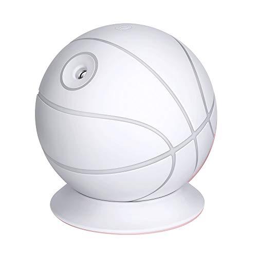 Mini Ultraschall Luftbefeuchter Abschaltung Leise Raumbefeuchter für Kinderzimmer Schlafzimmer Büro Auto,Großraum-Luftbefeuchter Home Mute Mini Office Desktop Aromatherapie Basketball,Weiß (Mini-flaschen Bevorzugt)