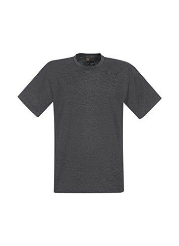 Trigema Herren T-Shirt T-shirt für Industriewäsche Grau (grau-melange 109)