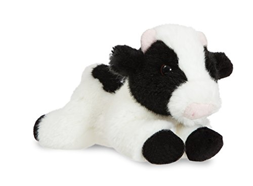 Aurora Vaca de peluche, colección Luv to Cuddle, 20 cm, color blanco y negro (0060060723)