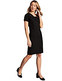dd2e3d7734978b Simon Jersey Feature Lapel Dress for Beauty Uniforms