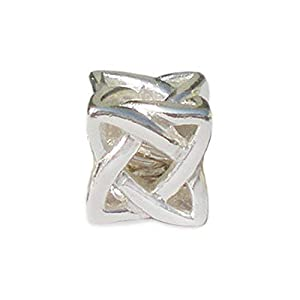 Andante-Stones 925 Sterling Silber Bead Charm * Netz * Element Kugel für European Beads Modul Armband + Organzasäckchen