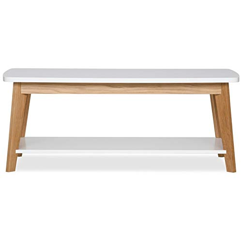Paris Prix - Table Basse Design kensal 115cm Chêne & Blanc