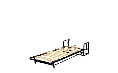 Einzel WANDBETT (Längs) 90cm x 200cm (Klappbett, Schrankbett, Gästebett, Funktionsbett) WALLBEDKING Classic - 7