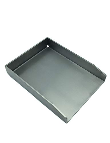 31BqtbG7teL - tradeNX Grillplatte aus Edelstahl - Massives Plancha & BBQ Zubehör zum Grillen von Fleisch, Fisch, Gemüse & Obst - 20 x 15 cm