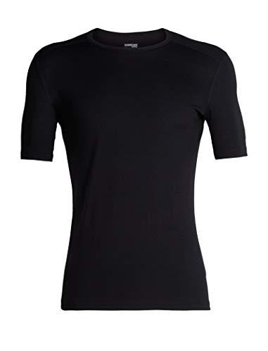 Icebreaker Herren 200 Oasis SS Crewe T-Shirt, Black, M - Herren Icebreaker