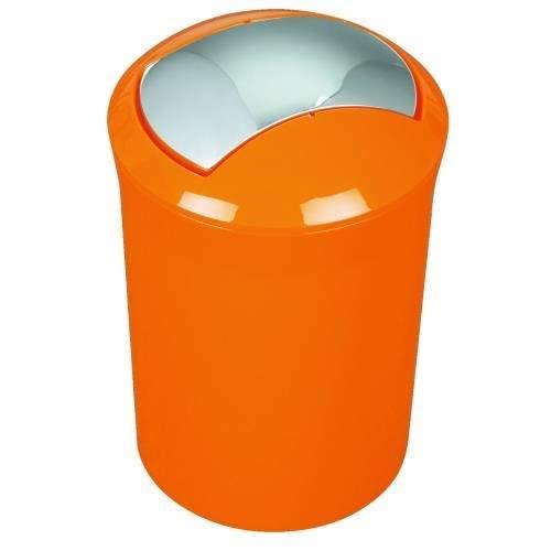"""Spirella Design Kosmetikeimer 10.14382 \""""Sydney\"""" mit Schwingdeckel 5 Liter (ØxH): 19 x 30 cm Orange"""