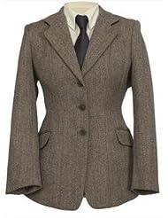 Shires Show para ropa de niños Huntingdon chaqueta de hípica para niños (de ropa de cama de/verde Tweed)