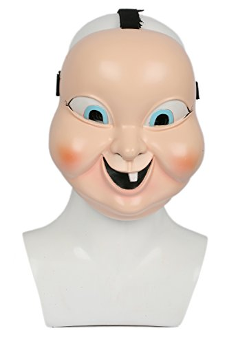 �m Requisiten Beige Resin Maske Halloween Verrücktes Kleid für Erwachsene (Halloween Cosplay Meme)