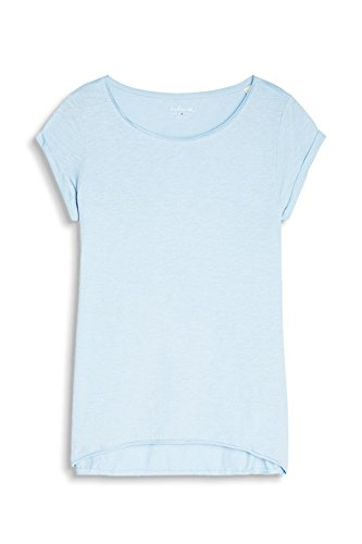 Esprit 027ee1k007, T-Shirt Femme Bleu (Light Blue 4)