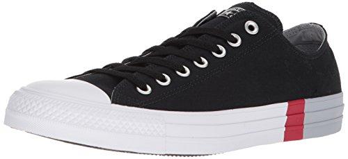 Converse - Chuck Taylor All Star Tri-Block Midsole Low Top Herren, Schwarz (Black/Wolf Grey/White), 41 EU D(M)