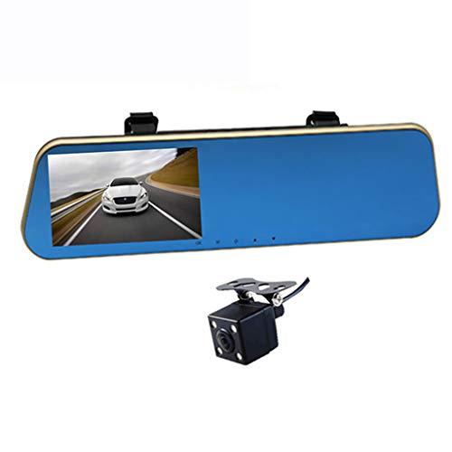 Omiky Autofahrrekorder (Doppelaufnahme) 4,3-Zoll-HD-Auto-DVR-Spiegelkamera-Videorecorder mit Doppelobjektiv und Front- und Rückspiegelkamera - 60-zoll-matratze