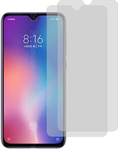 2X ANTIREFLEX matt Schutzfolie für Xiaomi Mi 9 Displayschutzfolie Bildschirmschutzfolie Schutzhülle Displayschutz Displayfolie Folie