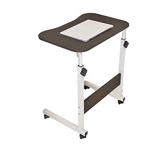 MXK Verstellbarer Rundtisch 60 cm Mobiler Laptop Computer Ständer Schreibtischwagen Tablett Beistelltisch Für Bett Sofa Krankenhaus Pflege Lesung Essen (Color : A) -