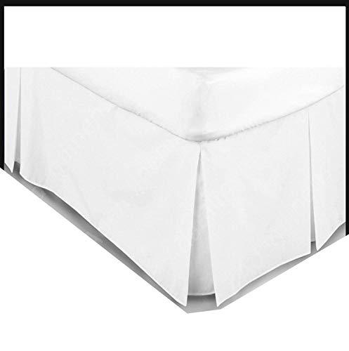 AR Pflegeleichte Stoffverkleidung für Bettkasten mit Faltung, Baumwollmix, gefärbt, einfarbig, weiß, King Size - King-plattform-bett-lila