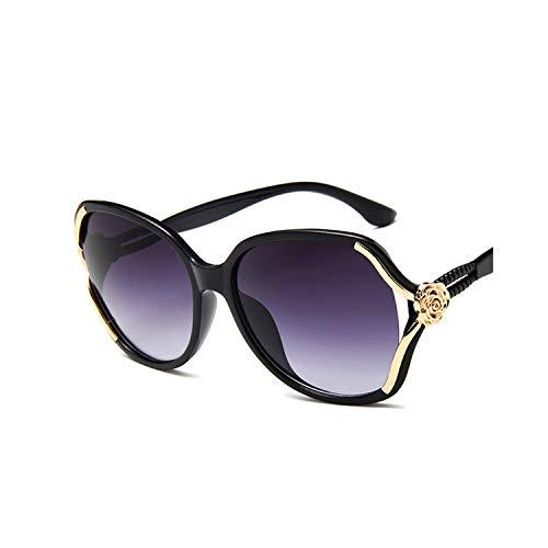 Sportbrillen, Angeln Golfbrille,Sunglasses Women Retro Lady Driving Luxury Eyewear Elegant Fashion Ladies Sun Glasses UV 400 New Female Mirror Goggle Spectacles Black