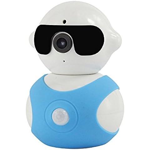 kekexili-mini Robot fotocamera 1280* 960p intelligente IP con pan/tilt HD Wi-Fi Day & Night sorveglianza IP Wireless per neonati Pet sicurezza casa Business, blu