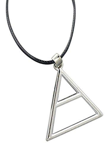 Collana con ciondolo Triade triangolare e cordino, 30 Seconds To Mars