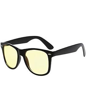 Aiweijia Gafas de computadora Vintage Protección UV Filtro de luz azul Lente clara Gafas de gafas