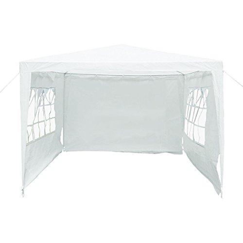 Tente de réception/mariage jardin 3 m x 3 m imperméable en polyéthylène - blanc