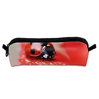 Pengyong Ladybug – Estuche para lápices con Cremallera, diseño de Mariquita, Color Rojo