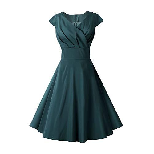 ♔Wawer Damen Kleid, Kurzärmliges Kleid mit Rundhalsausschnitt und Damenprint Frauen Art und Weise 3D-gedrucktes kurze Hülse O-Ansatz Weinlese-beiläufiges Kleid (Hülse Mit Kleiner Brautkleid)