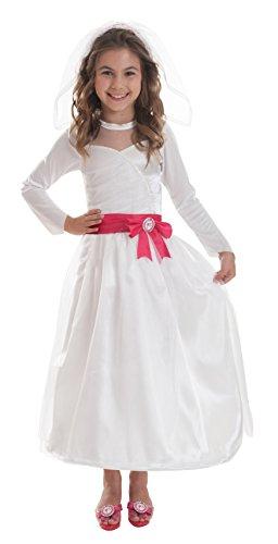 Barbie™ Braut-Kostüm für Mädchen - 5 bis 7 (Zubehör Kostüme Barbie)