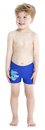 Speedo Baby Badeanzug Seasquad Placement Aquashorts, New Surf/Japan Blue/Salso/Empire Yellow, 3, 8-09219A8573