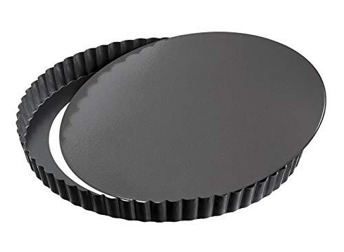 GF - Quicheform mit Hebeboden - Antihaftbeschichtung herausdrückbarer Hebeboden - Obstkuchenform und Backform mit Entfernbarem Antihaftbeschichtung - Schwarz - Ø 28 cm