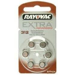 RAYOVAC Hörgeräte-Batterien R312AE Extra Advanced vom Typ 312 (im 6er Pack)