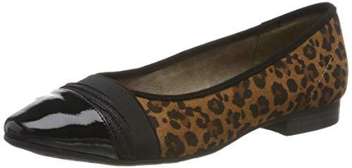 Jana 8-8-22165-23, ballerine punta chiusa donna, multicolore (leopard 920.0), 39 eu