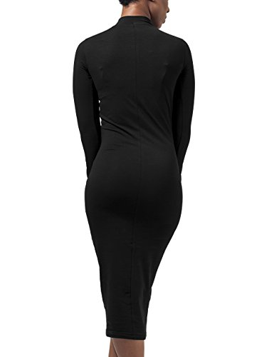 Urban Classics Damen Kleid Ladies Turtleneck L/S Dress Schwarz (Black 7)