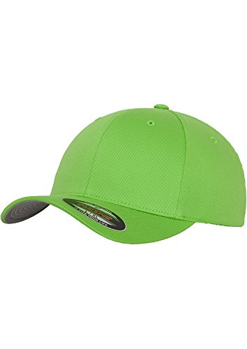 Sportliches Baseball Cap (Original Flexit Baseball Cap Wooly Combed im Bundle mit Bandana | Fresh Green | Gr. L/XL)