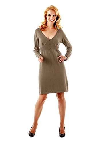 Aniston Damen-Kleid Strickkleid Grau Größe 38