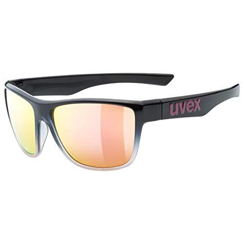 Uvex Erwachsene lgl 41 Sonnenbrille, Black/Rose, One Size
