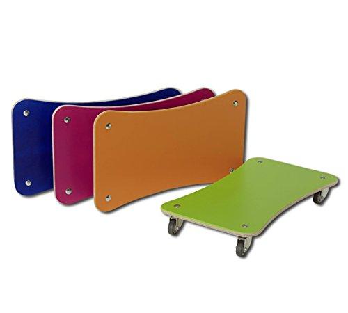 pedalo Rollbrett Color 4er Set I Holzrollbrett I Gleit-Rollbrett I Kinder und Erwachsene I Sport-Rollbrett