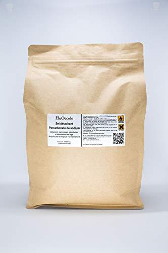 EluOecolo - Détachant & blanchissant au Percarbonate 3kg DOYPACK zippé - Oxygène actif <12% - avec doseur - Made in Nice