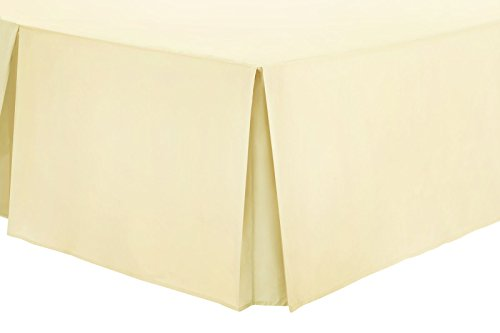 "Nimsay Home in policotone, tinta unita, pieghettato, Base Platform Valance Sheet 40 cm-40,64 cm (16"") gonna fogli singoli, matrimoniali, King-size e Super King size, crema, Super King"