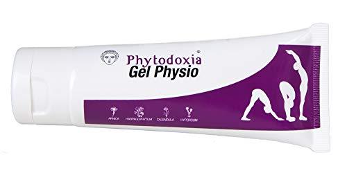 Gel Physio 75ml | Schmerzgel Entzündungshemmend stark | Schmerzlinderung für Rücken, Knie, Nacken | Gelenke und Muskeln | für Sportler | Teufelskralle Arnika Ringelblume Johanniskraut Menthol