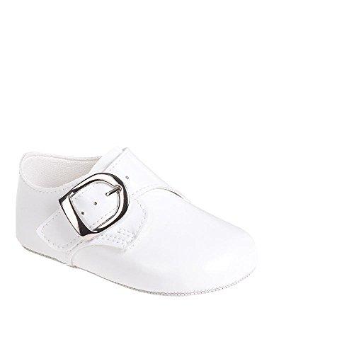 MGT-Shop Jungen Taufschuhe Baby Schuhe Leder Sandalen Taufe Hochzeit B656 (18-24 Monate, weiß)