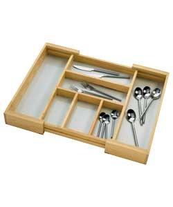 Kitchen Ware / Kitchen Accessories Besteckschublade aus Kiefernholz, ausziehbar (H45, B58, D7 cm)