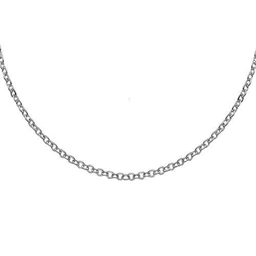 44f97ee8da0 Chaîne Collier Bracelet Argent Sterling 925 pour hommes femmes épaisseur 1  mm longueur 70 cm