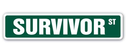 SignMission Survivor Straßenschild TV Show Teilnehmer Überlebenskünstler-|-| 45,7cm Breit (Tv-show Survivor)