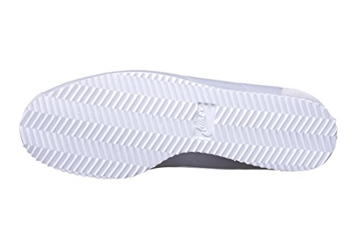 Nike Herren Classic Cortez Nylon Laufschuhe, Schwarz/Weiß Grau/Weiß (Wolf Grey / Weiß)
