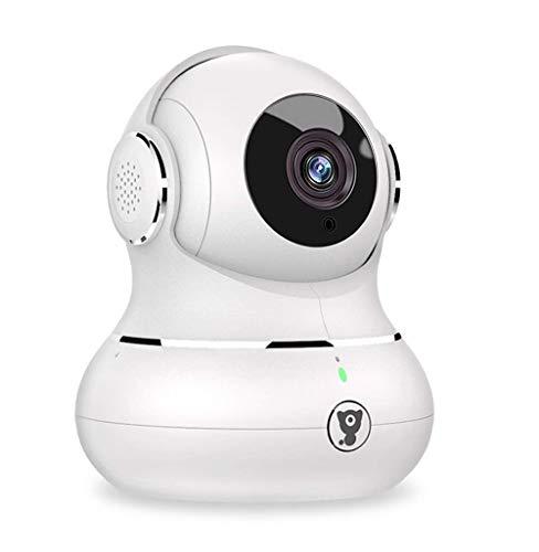Littlelf IP-Kamera 1080p Full HD Drahtlose Fernüberwachung 350° Panorama und 105° Neigung durch Anwendungen gesteuert 3D Panoramakamera Fernüberwachung für Babys und Tiere - Weiß