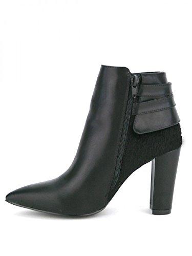 Cendriyon, Bottine Noire VIVIANA Mode Chaussures Femme Noir