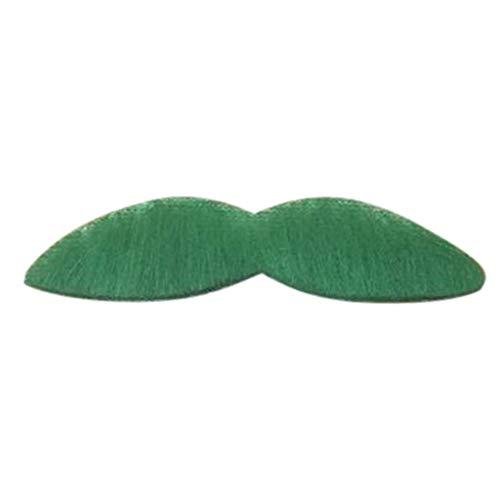 Kostüm Gefälschte Bart Roten - Lazzboy Kostüm Grüner Bart Selbstklebende gefälschte Schnurrbart Zubehör für St. Party Supplies(M,Mehrfarbig B)